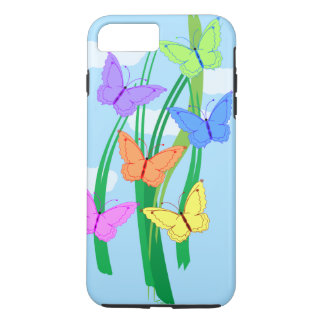 Colored Butterflies and Sky iPhone 7 Plus Case