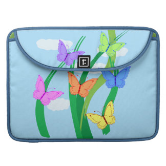 Colored Butterflies and Sky MacBook Pro Sleeve