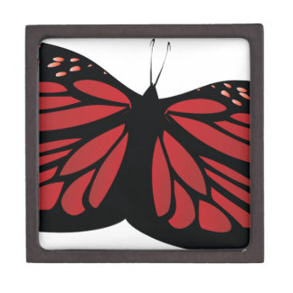 Colored butterflies gift box