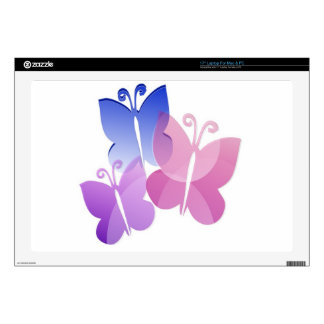 Colored Butterflies Skins For Laptops