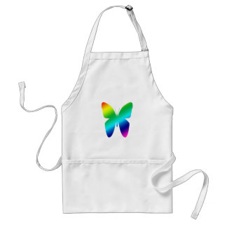 Colored Butterfly Adult Apron