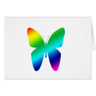 Colored Butterfly Card