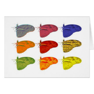 Colored Butterfly Notecard