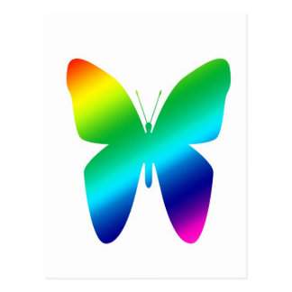 Colored Butterfly Postcard