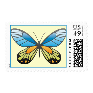 colored butterfly stamps