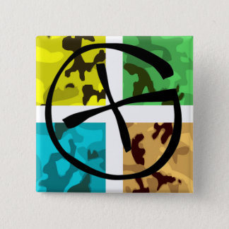 Colored Camo Geocaching Logo Button