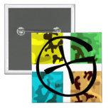 Colored Camo Geocaching Logo Button