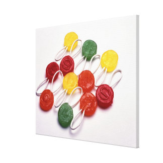 colored candy canvas print