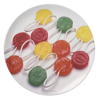 colored candy plate