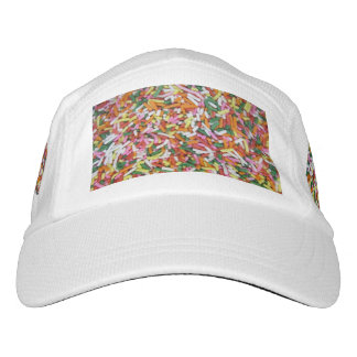 colored Candy sprinkes Texture Template Headsweats Hat