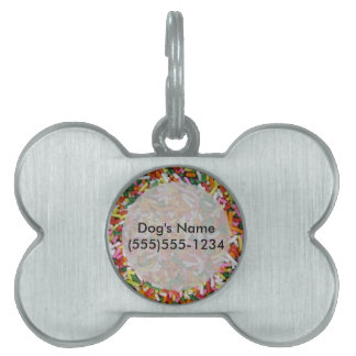 colored Candy sprinkes Texture Template Pet Name Tag