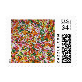 colored Candy sprinkes Texture Template Postage