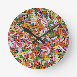 colored Candy sprinkes Texture Template Round Clock