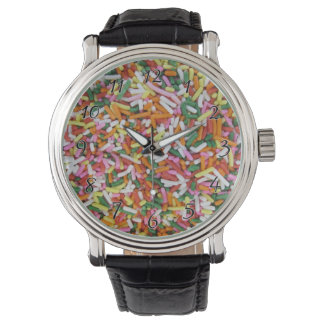 colored Candy sprinkes Texture Template Wrist Watch