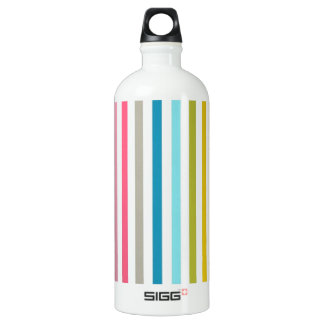 Colored Candy Stripes Aluminum Water Bottle