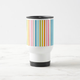 Colored Candy Stripes Travel Mug