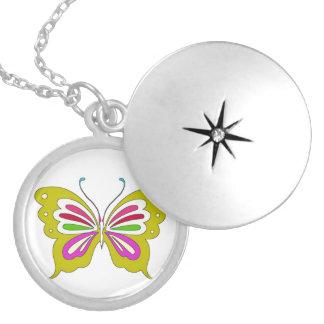Colored Cartoon Butterfly Locket
