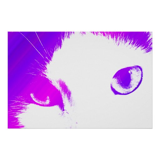 Colored Cat Eyes Print