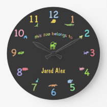 Colored Chalk Custom Animal Clock