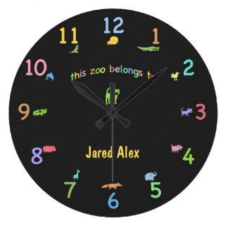 Colored Chalk Custom Animal Clock
