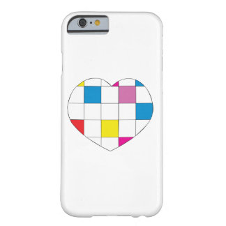 Colored Checkered Heart Barely There iPhone 6 Case