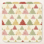 """Colored Christmas tree Square Paper Coaster<br><div class=""""desc"""">Colored Christmas tree</div>"""