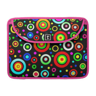 Colored Circles Macbook Pro Sleeve