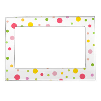 Colored Circles Magnetic Photo Frame