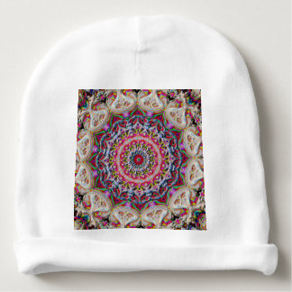 Colored Circular Mandala Baby Beanie