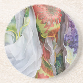 colored clothes drink coaster
