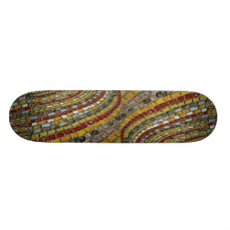 Colored cobblestones in town of Remich Luxembourg Skateboard Decks