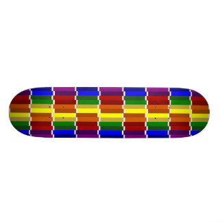 Colored Columns Gone Crazy Skateboard