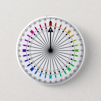 Colored Compass Navigational Instrument Button
