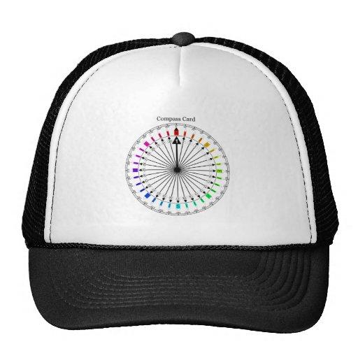 Colored Compass Navigational Instrument Trucker Hat