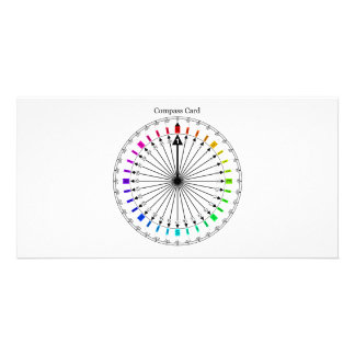 Colored Compass Navigational Instrument Photo Cards