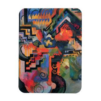 """Colored Composition"" Art magnet"
