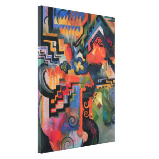 Colored Composition August Macke Vintage Orphism Canvas Prints
