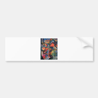 Colored composition by August Macke Bumper Sticker