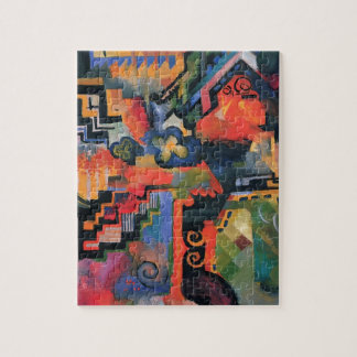Colored composition by August Macke Jigsaw Puzzle