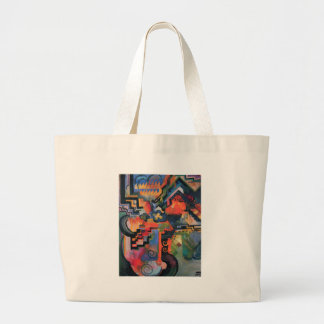 Colored composition by August Macke Large Tote Bag
