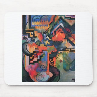 Colored composition by August Macke Mouse Pad