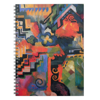 Colored composition by August Macke Spiral Notebook