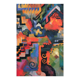 Colored composition by August Macke Stationery