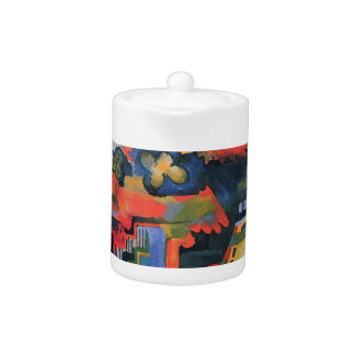Colored composition by August Macke Teapot