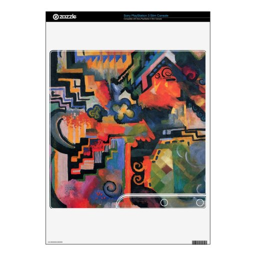 Colored composition  by Macke PS3 Slim Decals