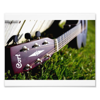 Colored Cort Guitar Photo Print