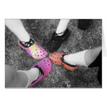 Colored Crocs & Soft Shoes Card