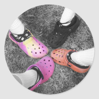 Colored Crocs & Soft Shoes Sticker