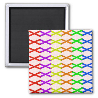 Colored Cross Stitch Magnet