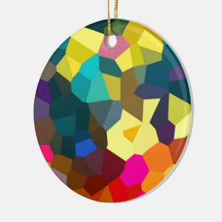 Colored Crystals Ceramic Ornament